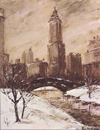 Snow in Central Park by Nancy Kominsky.
