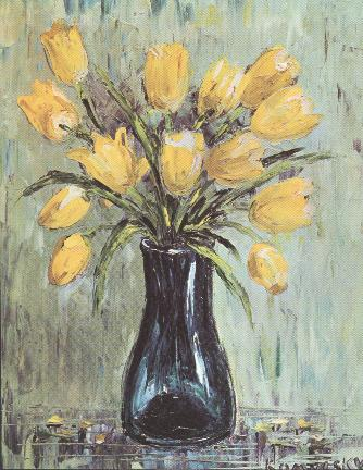 Yellow Tulips by Nancy Kominsky.